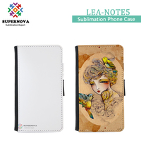 Sublimation Blank Leather Cell Phone Case for Samsung Galaxy Note 5