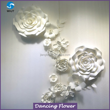 Popular Paper Wedding Decoration White Flower Backdrop Wall WPAH-19