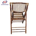 Antique style natural garden chair wedding bamboo folding chair