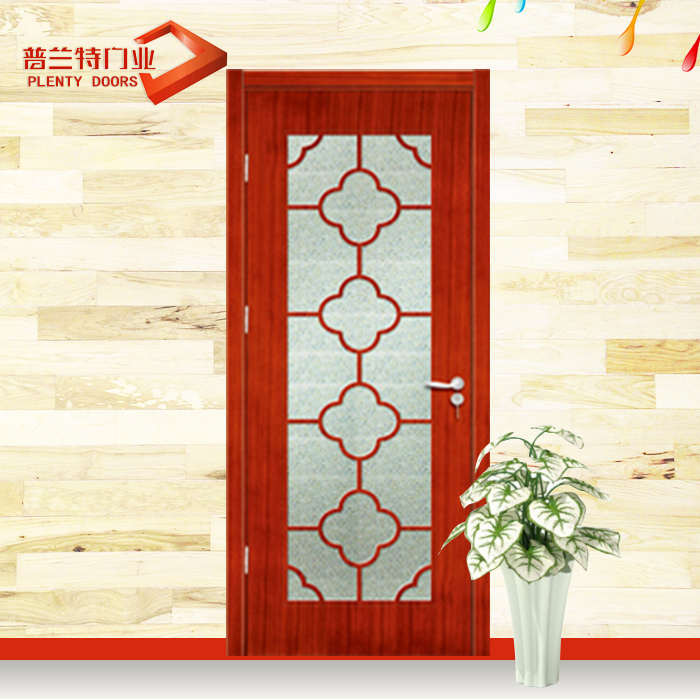 Interior wooden glass shaker sliding pocket double door for bedroom