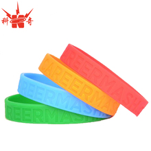 factory directly wholesale cheap custom swirl color silicone rubber bracelet