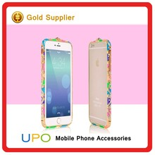 [UPO] Bling Elegant Crystal Diamond Element Metal Bumper Cell Phone Case For iPhone 5 5S 6 6S