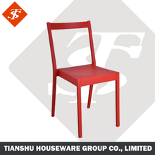 dining room use red color custom Armless modern plastic chair low price