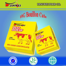 High quality 4g&10g Halal bouillon cubes/ chicken essence/ beef flavor seasoning