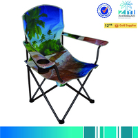 Folding chair with beach pattern/outdoor chair with beach pattern/outdoor furniture