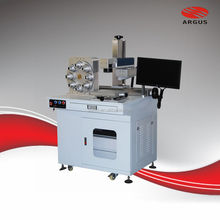 10W 20W 30W IPG / Raycus Fiber Laser Marking Machine Price With Stainless Steel,Sliver, Plastic muiltifunction heads