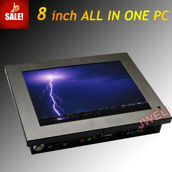 8 inch wall mount lcd touchscreen monitor with built in computer