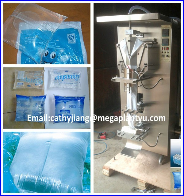 Plastic water bag filling sealing machine/liquid filling packing machine