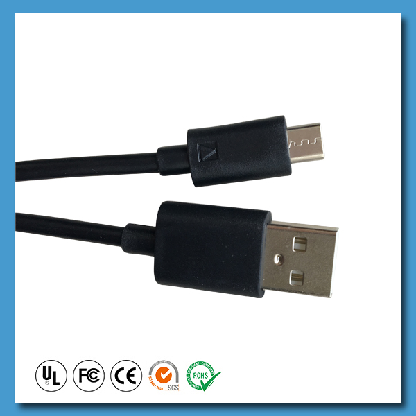 Factory price universal round various micro 24awg 2c usb cable
