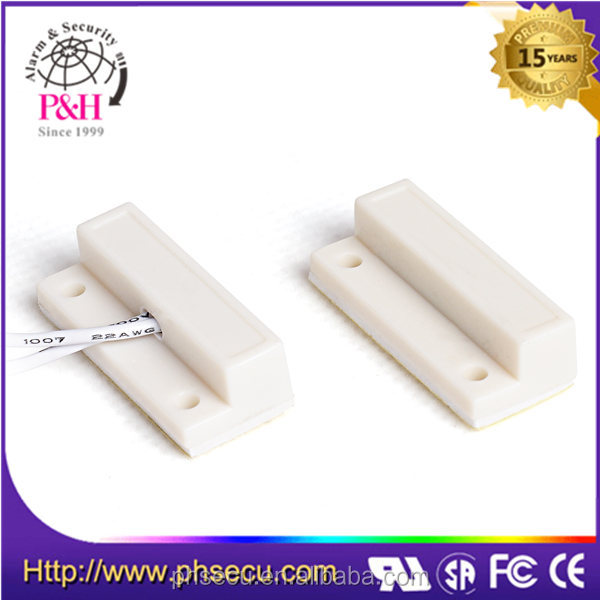 Wired door window sensor magnetic reed switch for burglar alarm system