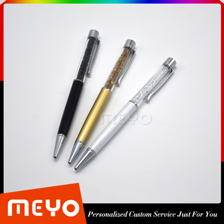 Custom Logo Printing Triple Diamond Ballpoint Pen Set Mutilple Colors