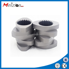Twin screws for plastic pelletizer plastic machine parts twin screw extruder for low price