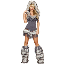 Wholesalers Christmas Sexy womens outfits India fur hoodie fancy dress costume