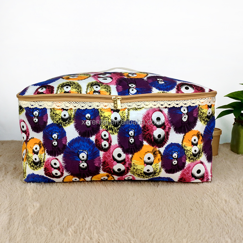 Multi purpose Cube closet organizer storage bag for clothes quilts pillows and toys