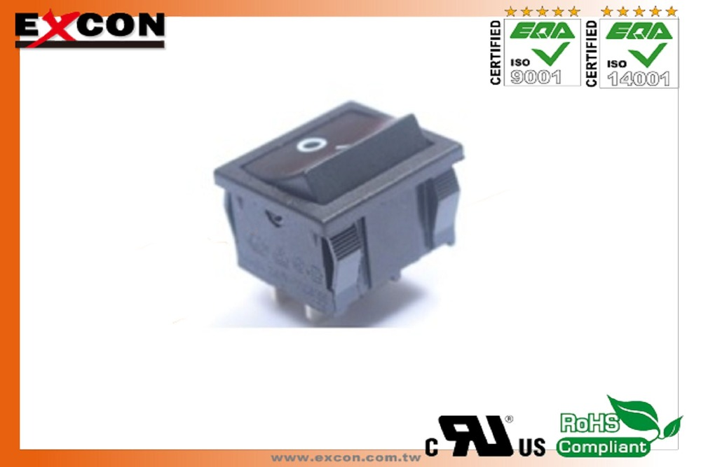 16(4)A 250V T125 55 rocker switches for household appliance