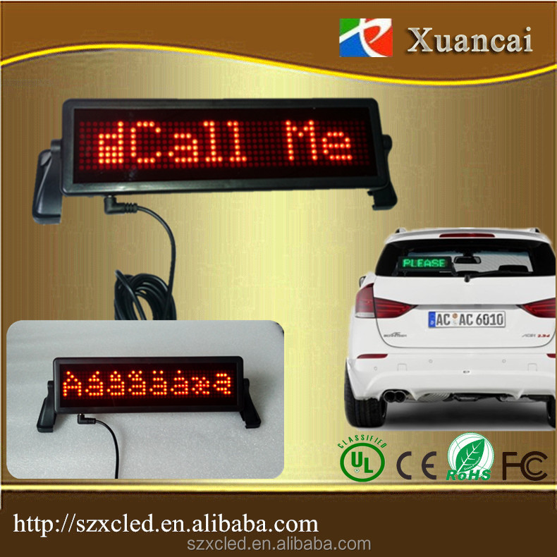 Wireless Remote control 12Volt car flashing led brake signal lights LED message display glass rear window sign