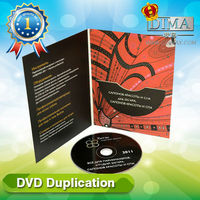 wholesale dvd duplication with customized dvd digipack