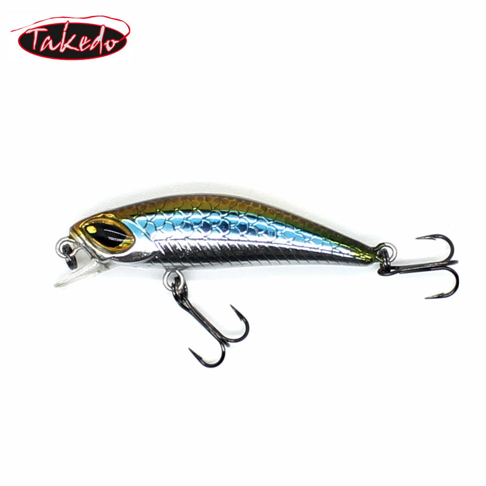 TAKEDO Wholesale FU45 wobblers Jerkbait 4.5cm 3.0g Hard Bait Minnow <strong>14</strong># VMC hooks Bass tackle Fishing lures