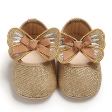 2020 latest newborn 0-12 months prewalker lovely bling butterfly girls toddler embroider baby girl shoes