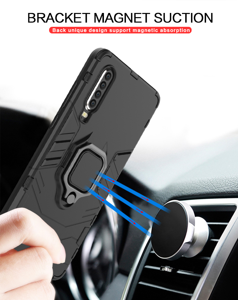 Magnet ring holder cell phone case for Huawei P30 ,magnetic car phone holder case for Huawei P30