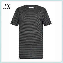 Charcoal and black sheer stripe longline fit t-shirt custom man t-shirt