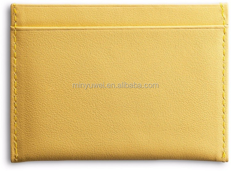 Popular Thin Nappa leather card holder leather credit card holder with 5 different colors