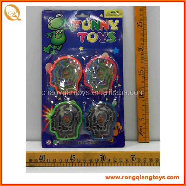 Promotional classic toy Maze <strong>game</strong> on head shape, roll ball <strong>game</strong> GC0407304-4