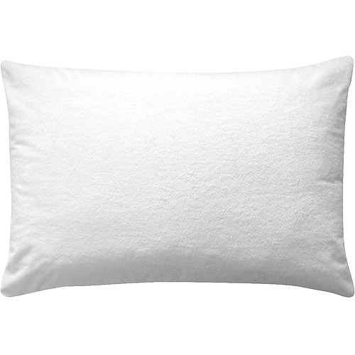 Soft Zippered Waterproof Terry Pillow Case Protector Cover