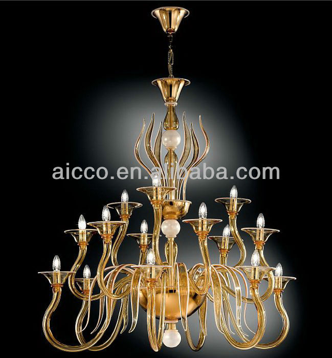 Aicco Hot Sell Modern LED Muranoo Glass Chandelier Pendant Lighting Classic European Crystal Lamp