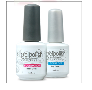 China wholesale matching color 2 in 1 gel +regular nail polish for nail art set