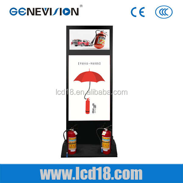 42inch Dual Screen Interactive fire fighting Multi Touch Kiosk Digital Signage