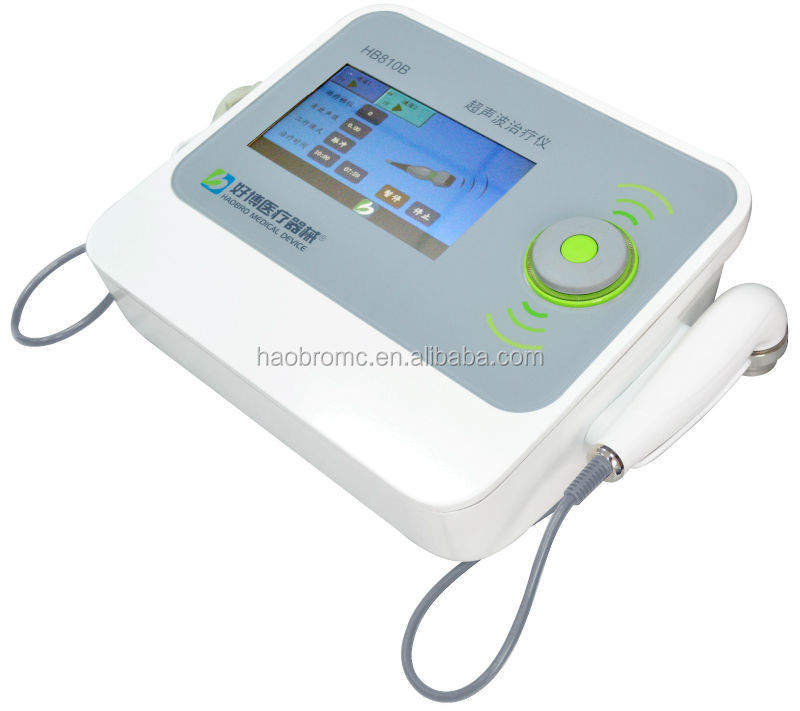 Haobro produce electrotherapy and ultrasound therapy machines with two probes HB810B