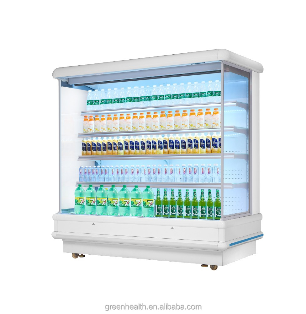 Green&Health europe style open chiller showcase for vegetable/fruit factory direct sale