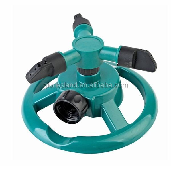 360 degree revolving water jet sprinkler for lawn and yard
