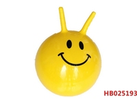 38Cm 380G Inflatable Ball, Children Inflation Pvc Hop Hopper Jumping Handle Ball Toy