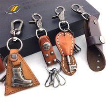 Fashion Design Leather Made Key Ring Chains