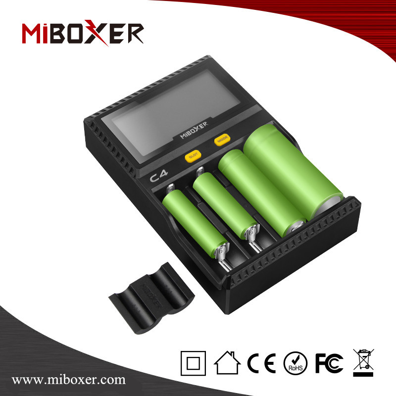 External Battery Charger for 26650/18650/18500/18350 battery, Miboxer C4 Charger