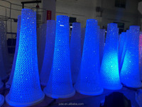Tall LED lighting flower stand/ wedding LED pillar walk way flowers sytand for wedding centerpieces