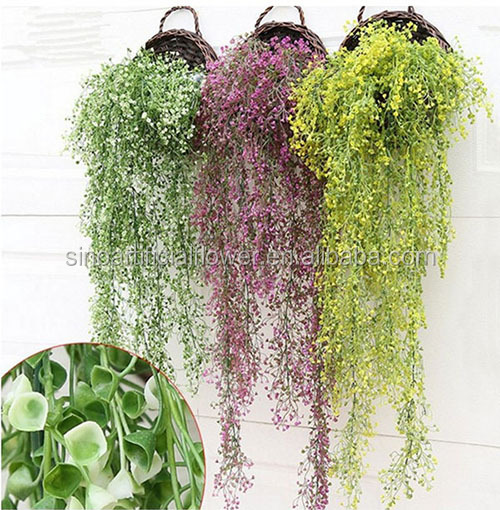 Hot sale artificial wall hanging home decor plant <strong>flower</strong>