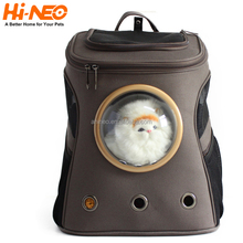 High quality luxury breathable backpack bag for pet carrier travelling lightweight type