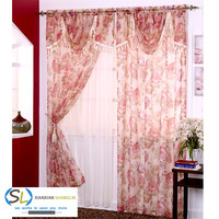 luxury bedding room printing wholesale window curtain