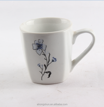 Daily used square coffee mug porcelain /new bone china /bone china