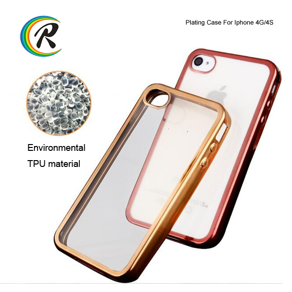 mobile phones platingcover case back plate for iPhone 4 4S cell phone electroplate case