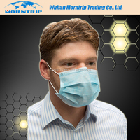 2016 Hot Sale Non Woven Disposable 3 ply Face Mask with Eye Shield, Medical Surgical Face Masks