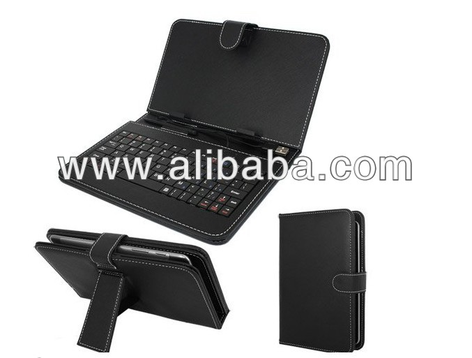7 inch Leather Keyboard Case for TabletPc