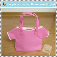 Hangzhou Nonwoven Plant for Pink Cute Resuable Non-woven Shopping Bags