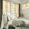 Printed roller blinds and sheer together double sun shade