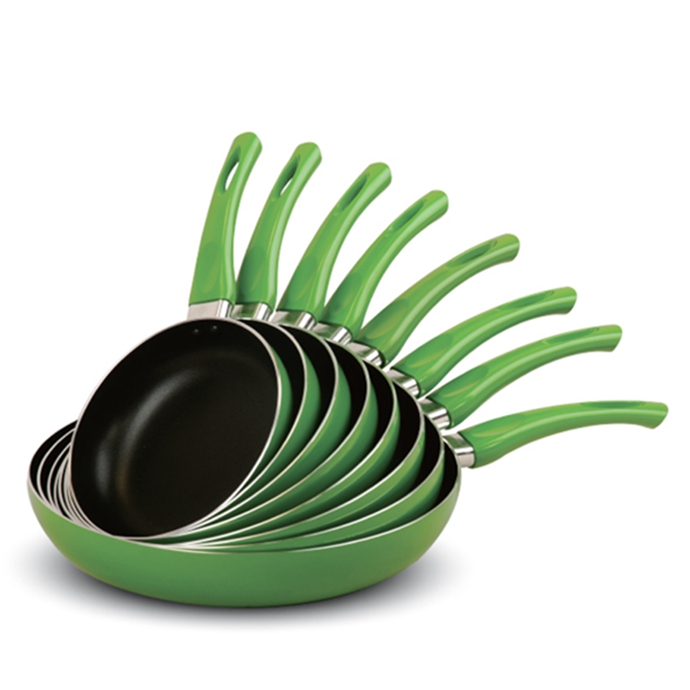 Green Non-stick Fry Pan with Green Painted Handle