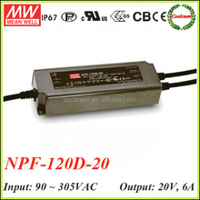 Meanwell NPF-120D-20 120W pfc ip67 dimmable led driver