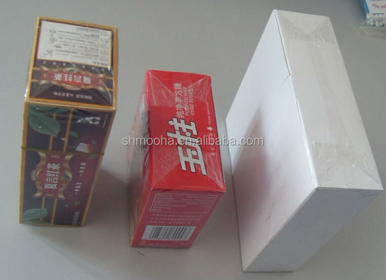 transparent film overwrapping machine for tea box